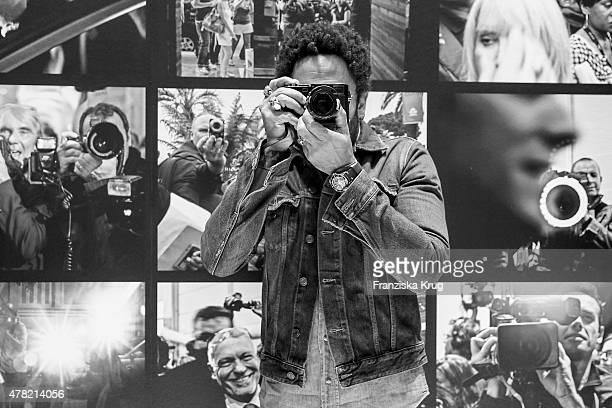 Lenny Kravitz attends the vernissage 'Flash by Lenny Kravitz' on June 23 2015 in Wetzlar Germany