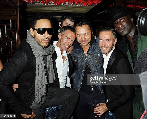 Lenny Kravitz Dean Caten Gerry Deveaux Dan Caten and Ozwald Boateng attend an afterparty following musician Lenny Kravitz's gig with Absolute Radio...
