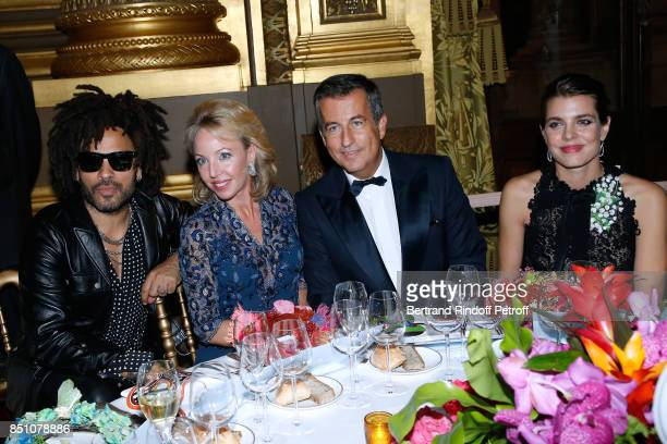 Lenny Kravitz Duchess of Castro Camilla de Bourbon des DeuxSiciles CoPresident of the Opening Gala Cyril Karaoglan and Charlotte Casiraghi attend the...