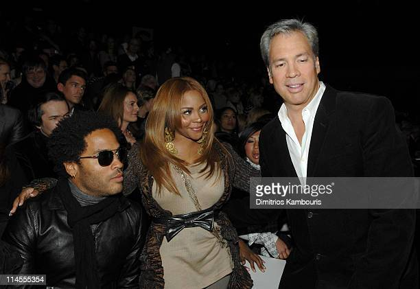 Lenny Kravitz, Lil' Kim and Robert Duffy during Mercedes-Benz Fashion Week Fall 2007 - Marc Jacobs - Front Row at New York State Armory in New York...