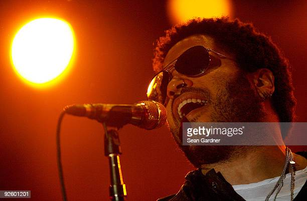 Lenny Kravitz performs at the 2009 Voodoo Experience at City Park on November 1 2009 in New Orleans Louisiana