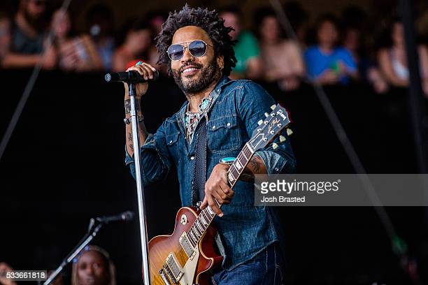 Lenny Kravitz performs at the Hangout Music Festival on May 22, 2016 in Gulf Shores, Alabama.