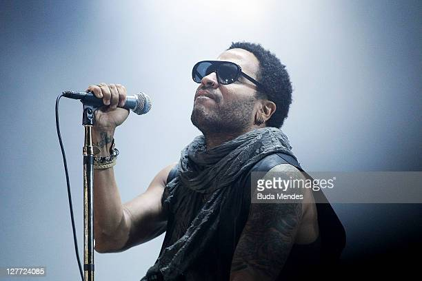 Lenny Kravitz performs on stage during a concert in the Rock in Rio Festival on September 30 2011 in Rio de Janeiro Brazil Rock in Rio Festival comes...