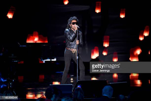 Lenny Kravitz performs onstage during the 2020 Breakthrough Prize at NASA Ames Research Center on November 03, 2019 in Mountain View, California.