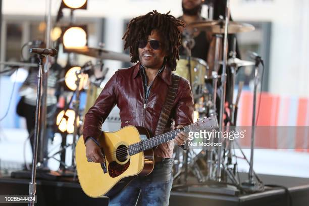 Lenny Kravitz seen at the BBC Studios rehearsing for The One Show on September 7 2018 in London England