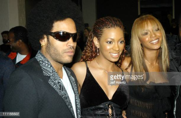 Lenny Kravitz Solange Knowles Beyonce Knowles during The 30th Annual American Music Awards Backstage Party at Shrine Auditorium in Los Angeles...