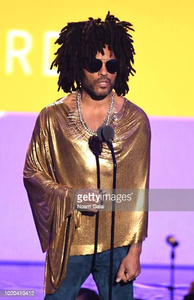 Lenny Kravitz speaks onstage during the 2018 MTV Video Music Awards at Radio City Music Hall on August 20, 2018 in New York City.