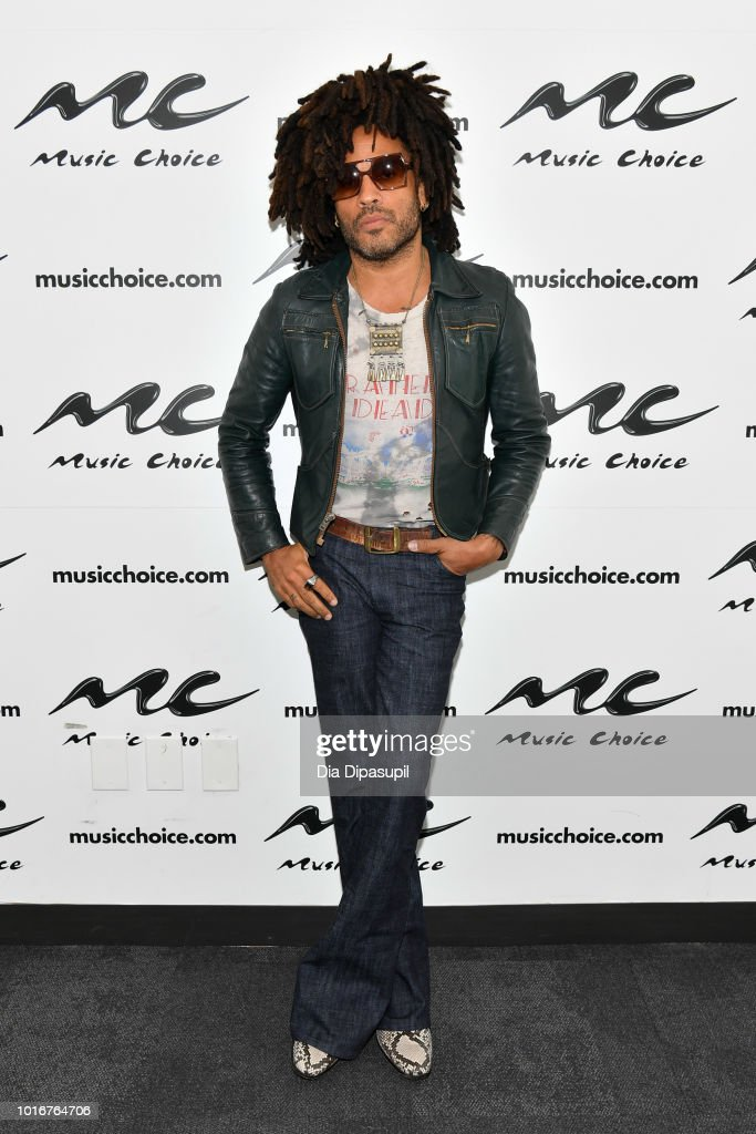 Lenny Kravitz Visits Music Choice