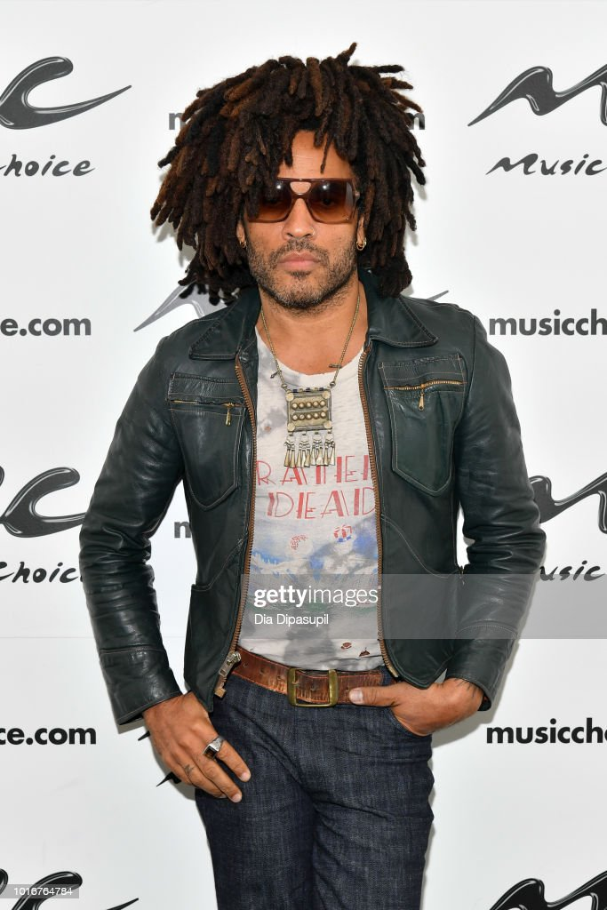 Lenny Kravitz visits Music Choice on August 14, 2018 in New York City.