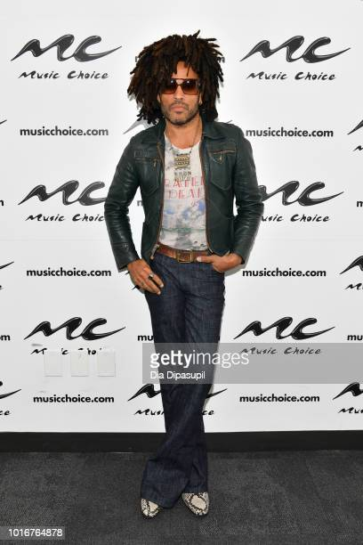 Lenny Kravitz visits Music Choice on August 14 2018 in New York City