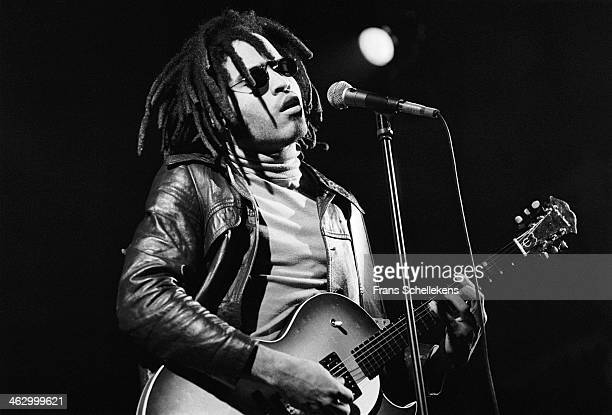 Lenny Kravitz, vocal-guitar, performs at the Paradiso on 13th December 1989 in Amsterdam, the Netherlands.