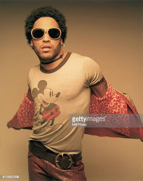 Lenny Kravitz Wearing a Mickey Mouse TShirt