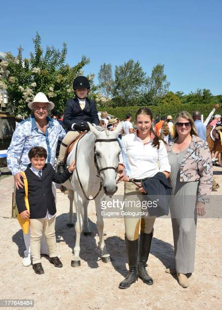 Lenny Lane Leah Lane Frankie Lane Stewart F Lane and Bonnie Comley attend the Hampton Classic Horse Show Opening Day 2013 on August 25 2013 in...