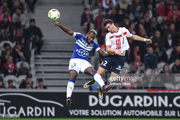 Lenny Nangis of Bastia and Sebastien Corchia of Lille during the Ligue 1 match between Lille and Bastia at Stade PierreMauroy on October 22 2016 in...