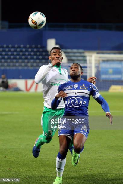 Lenny NANGIS of Bastia during the French Ligue 1 match between Bastia and Saint Etienne at Stade Armand Cesari on March 4 2017 in Bastia France