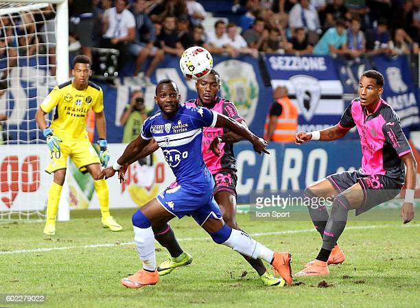 Lenny Nangis of Bastia during the french Ligue 1 match between Sc Bastia and Toulouse Fc at Stade Armand Cesari on September 10 2016 in Bastia France
