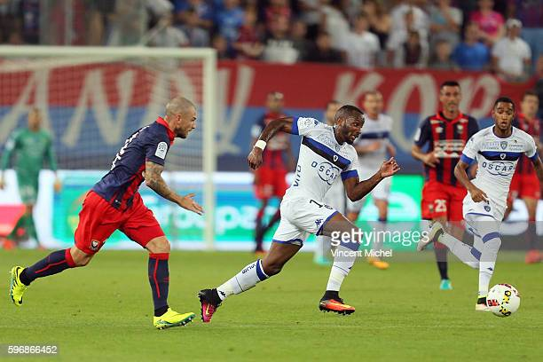 Lenny Nangis of Bastia during the French Ligue 1 match between SM Caen an Bastia at Stade Michel D'Ornano on August 27 2016 in Caen France