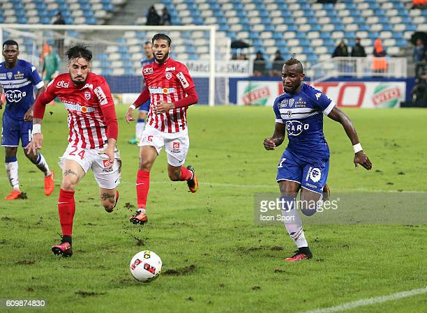 Lenny Nangis of Bastia during the Ligue 1 match between Sc Bastia and As Nancy Lorraine at Armand Cesari on September 21 2016 in Bastia France