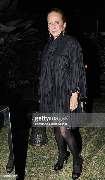 Lenny Niemeyer attends the party of the Yves Saint Laurent fragrance La Nuit de L'Homme on June 20 2009 in Sao Paulo Brazil