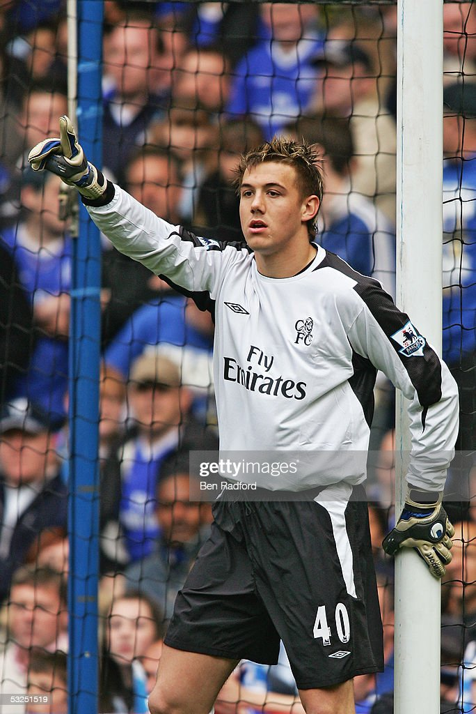 Lenny Pidgeley of Chelsea in action during the Barclays Premiership match between Chelsea and Charlton at Stamford Bridge on May 7, 2005 in London, England.