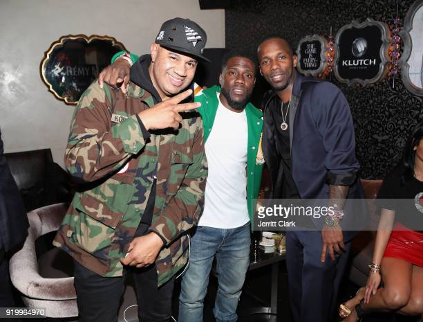 Lenny S Kevin Hart and Rich Paul attend the Klutch Sports Group More Than A Game Dinner Presented by Remy Martin at Beauty Essex on February 17 2018...