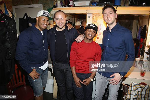 Lenny S ROMANS Tyran 'Ty Ty' Smith and Marc Fineman attend The ROMANS Sessions at The Box on May 5 2015 in New York City