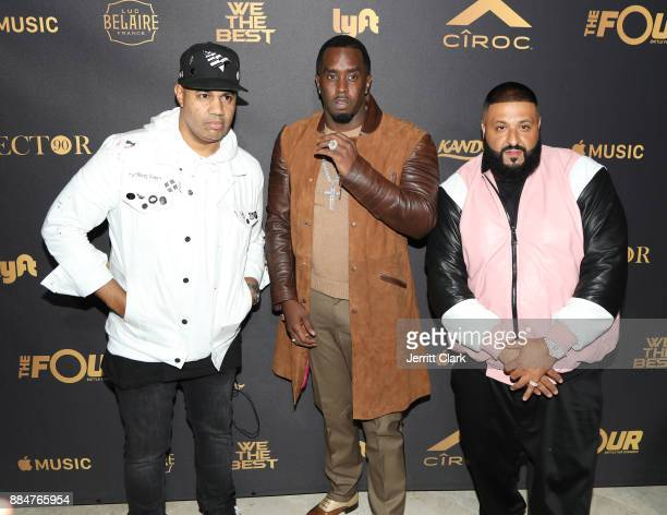 Lenny S Sean 'Diddy' Combs and DJ Khaled attend The Four cast Sean Diddy Combs Fergie and Meghan Trainor Host DJ Khaled's Birthday Presented by CÎROC...