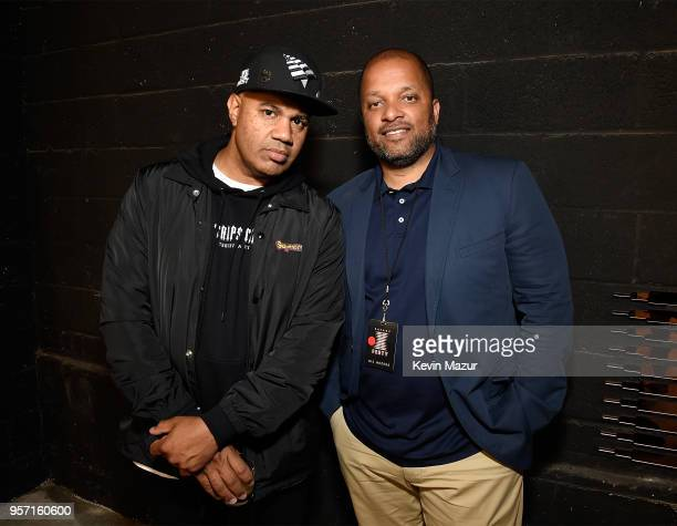 Lenny Santiago and Jay Brown attend the launch of Rihanna's global lingerie brand Savage X Fenty at Villain on May 10 2018 in New York City