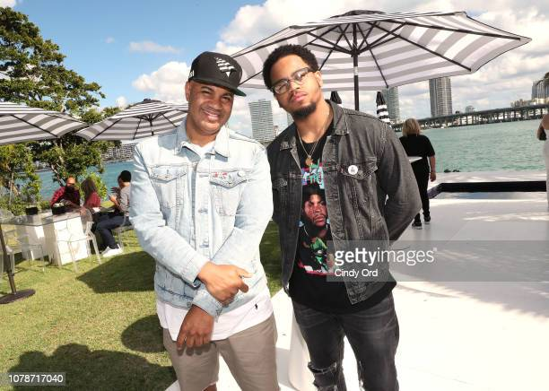 Lenny Santiago and Tristan Wilds attend the Samsung /make Creators Brunch During Miami Art Week on December 07 2018 in Miami Florida