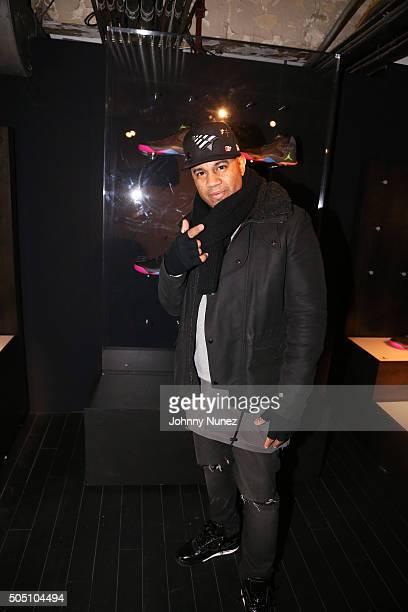 Lenny Santiago attends Angela Yee's Basketball Birthday Bash at Terminal 23 on January 14 in New York City