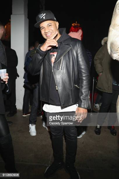 Lenny Santiago attends the Def Jam's PreGRAMMY Celebration Presented by Patron Tequila with Parajumpers Puma Saucey and Heineken at the Garage on...