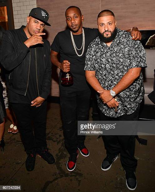 Lenny Santiago Rugs and DJ Khaled attend a D'usse Dinner Series at STK Atlanta on September 16 2016 in Atlanta Georgia