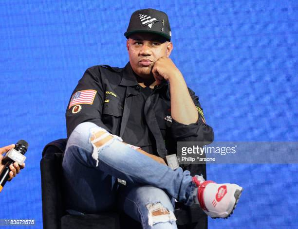 Lenny Santiago speaks onstage at the REVOLT X ATT 3Day Summit In Los Angeles Day 2 at Magic Box on October 26 2019 in Los Angeles California