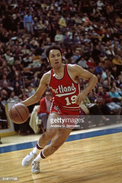 Lenny Wilkens of the Portland Trailblazers drives to the basket during an NBA game circa 1973 NOTE TO USER User expressly acknowledges and agrees...