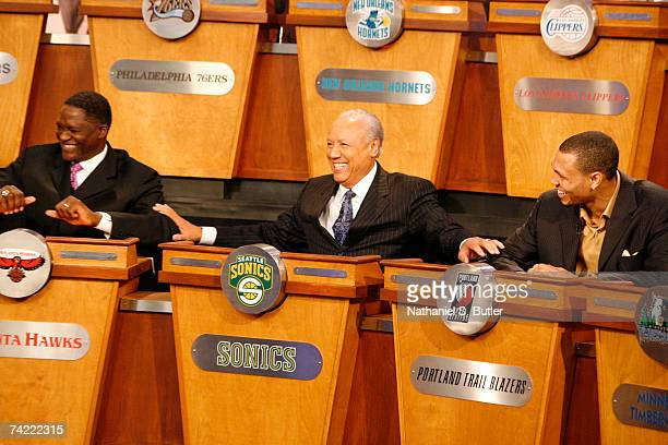 Lenny Wilkens President of Basketball Operations for the Seattle SuperSonics smiles as he gets the number two pick during the 2007 NBA Draft Lottery...
