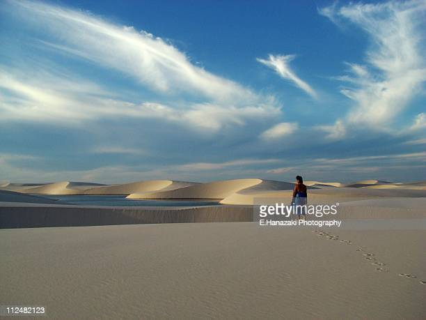 lençois maranhenses dunes - lencois maranhenses national park stock pictures, royalty-free photos & images