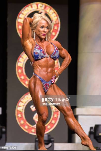 Lenore Gregson competes in Women's Physique International as part of the Arnold Sports Festival on March 3 at the Greater Columbus Convention Center...