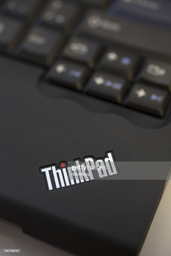 A Lenovo Group Ltd. Thinkpad laptop computer is displayed for a photograph in Hong Kong, China, on Wednesday, Nov. 7, 2012. Lenovo announces second quarter earnings today. Photographer: Jerome Favre/Bloomberg via Getty Images