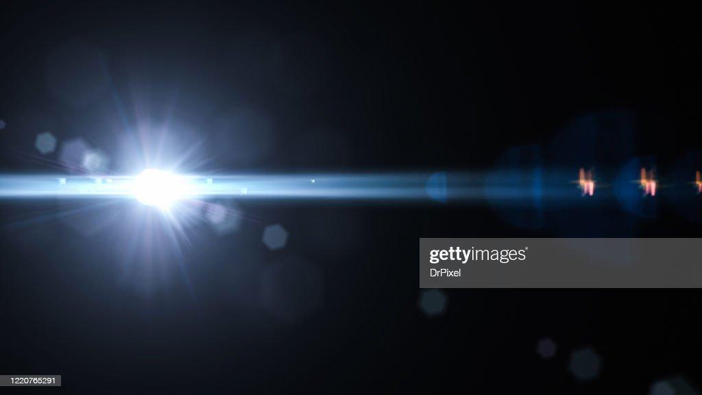 Lens Flare on Black Background : Stock-Foto