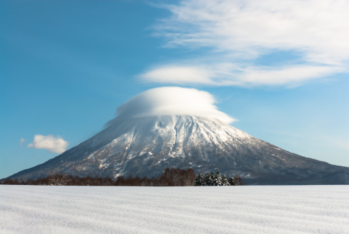 Lenticular cloud over Mt Yotei - gettyimageskorea