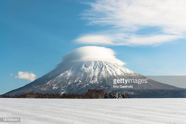 Lenticular cloud over Mt Yotei
