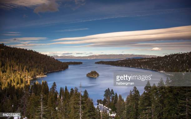 Lenticular Clouds Over Lake Tahoe