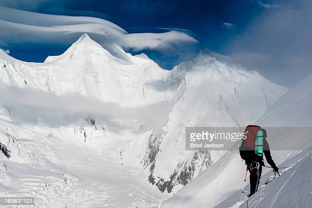 lenticulars - k2 mountain stock pictures, royalty-free photos & images