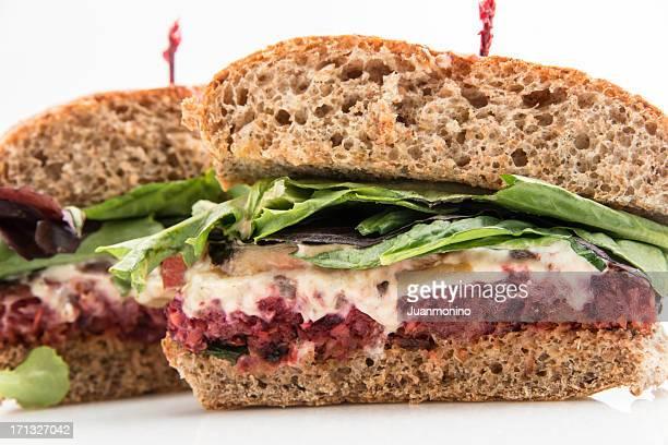 Lenteja hamburguesa (platos vegetarianos alimentos