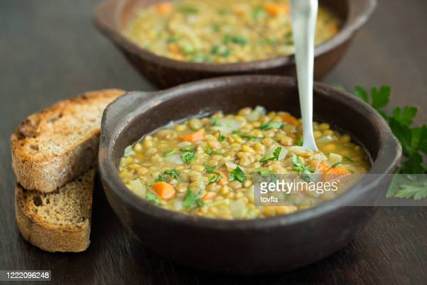 lentil soup - lentil stock pictures, royalty-free photos & images