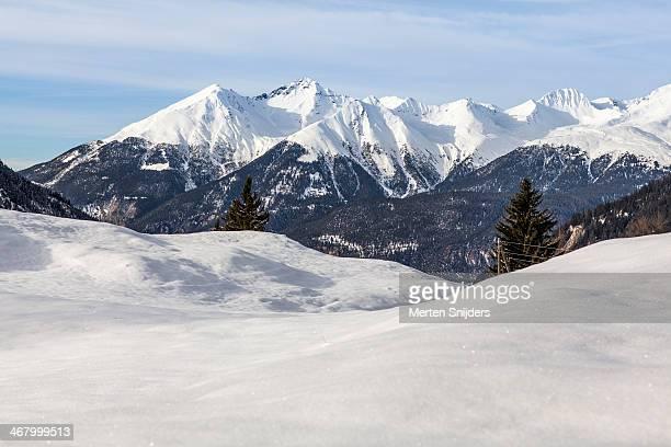 Lenzerhorn and Guggernell Swiss alps