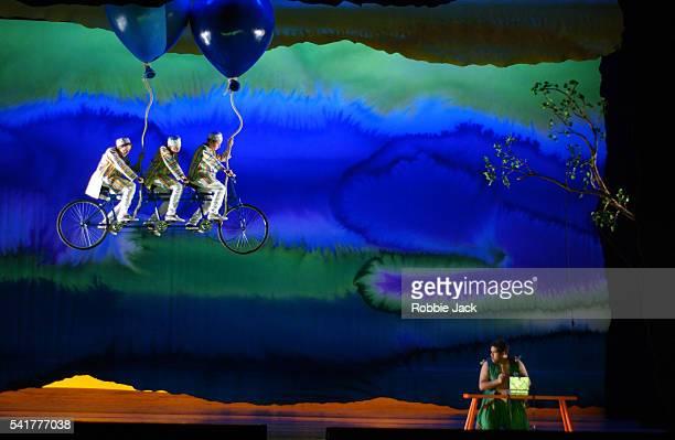 Leo Baker Jake AlderFalconer and Milo Harries with Jonathan Lemalu perform Mozart's opera The Magic Flute at Glyndebourne