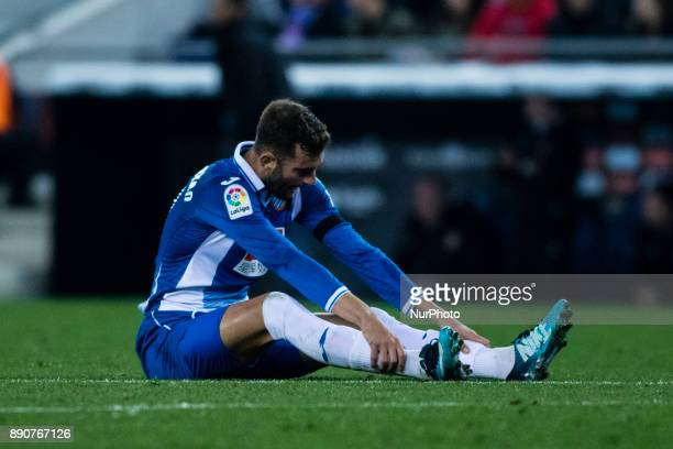 11 Leo Baptistao from Brasil of RCD Espanyol during the La Liga match between RCD Espanyol v Girona FC at RCD Stadium on December 11 2017 in...