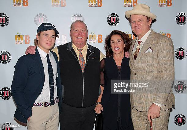 Leo Batali Mario Batali his wife Susan Cahn and John C Reilly attend the 4th Annual Mario Batali Foundation dinner honoring Gretchen Witt at Del...