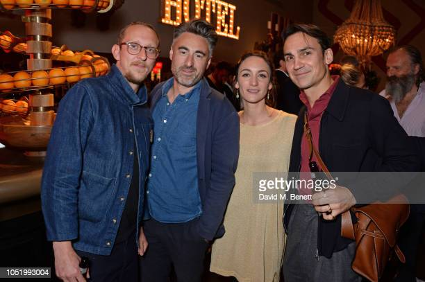 Leo Bill William Oldroyd Cara Horgan and Henry LloydHughes attend a screening of Alfonso Cuaron's Roma hosted by Netflix David Heyman at The Ham Yard...